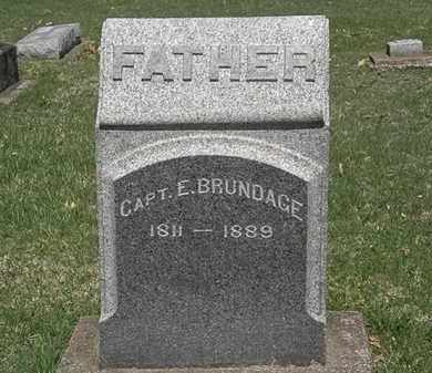 BRUNDAGE, CAPT. E. - Erie County, Ohio | CAPT. E. BRUNDAGE - Ohio Gravestone Photos