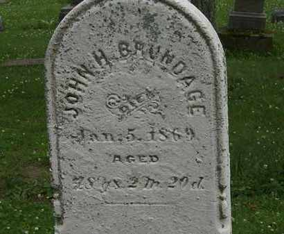 BRUNDAGE, JOHN H. - Erie County, Ohio | JOHN H. BRUNDAGE - Ohio Gravestone Photos