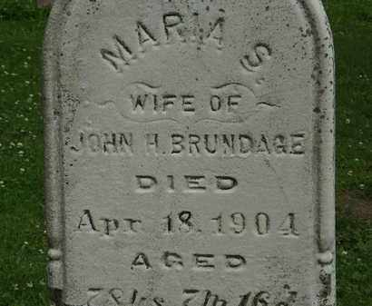 BRUNDAGE, MARIA S. - Erie County, Ohio | MARIA S. BRUNDAGE - Ohio Gravestone Photos
