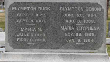BUCK, PLYMPTON - Erie County, Ohio | PLYMPTON BUCK - Ohio Gravestone Photos