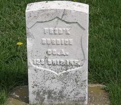 BURDICE, FRED'K - Erie County, Ohio | FRED'K BURDICE - Ohio Gravestone Photos