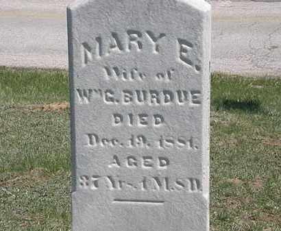 BURDUE, MARY E. - Erie County, Ohio | MARY E. BURDUE - Ohio Gravestone Photos