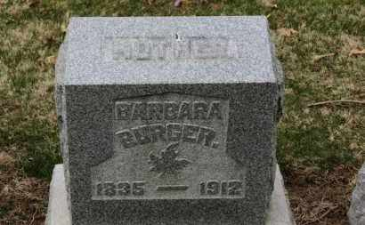 BURGER, BARBARA - Erie County, Ohio | BARBARA BURGER - Ohio Gravestone Photos