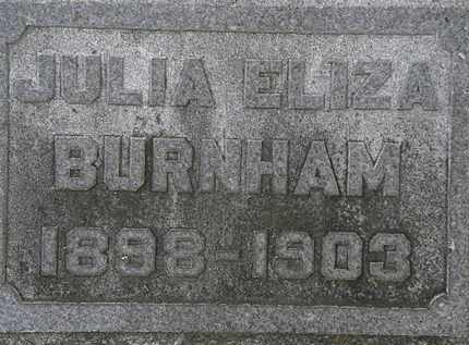 BURNHAM, JULIA ELIZA - Erie County, Ohio | JULIA ELIZA BURNHAM - Ohio Gravestone Photos
