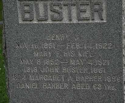 BUSTER, MARY E. - Erie County, Ohio | MARY E. BUSTER - Ohio Gravestone Photos