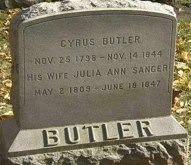 SANGER BUTLER, JULIA ANN - Erie County, Ohio | JULIA ANN SANGER BUTLER - Ohio Gravestone Photos