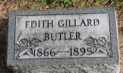 GILLARD BUTLER, EDITH - Erie County, Ohio | EDITH GILLARD BUTLER - Ohio Gravestone Photos