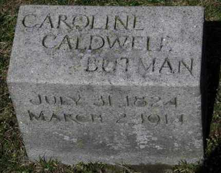 BUTMAN, CAROLINE - Erie County, Ohio | CAROLINE BUTMAN - Ohio Gravestone Photos