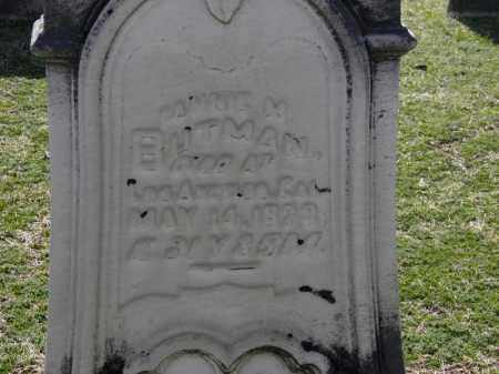 BUTMAN, FANNIE M. - Erie County, Ohio | FANNIE M. BUTMAN - Ohio Gravestone Photos
