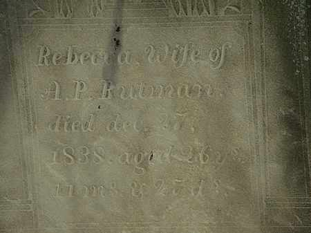 BUTMAN, REBECCA - Erie County, Ohio | REBECCA BUTMAN - Ohio Gravestone Photos