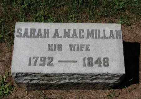MACMILLAN BUTTON, SARAH A. - Erie County, Ohio | SARAH A. MACMILLAN BUTTON - Ohio Gravestone Photos