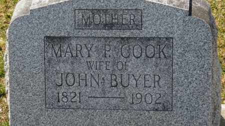 COOK BUYER, MARY P. - Erie County, Ohio | MARY P. COOK BUYER - Ohio Gravestone Photos