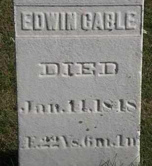 CABLE, EDWIN - Erie County, Ohio | EDWIN CABLE - Ohio Gravestone Photos