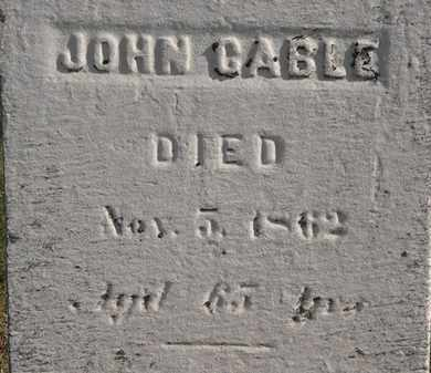CABLE, JOHN - Erie County, Ohio | JOHN CABLE - Ohio Gravestone Photos