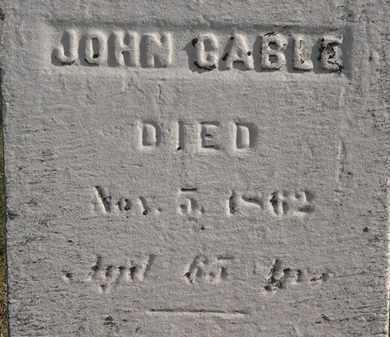 CABLE, JOHN - Erie County, Ohio   JOHN CABLE - Ohio Gravestone Photos
