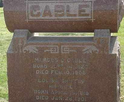 CABLE, MARCUS C. - Erie County, Ohio | MARCUS C. CABLE - Ohio Gravestone Photos