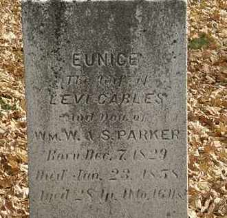 CABLES, EUNICE - Erie County, Ohio | EUNICE CABLES - Ohio Gravestone Photos