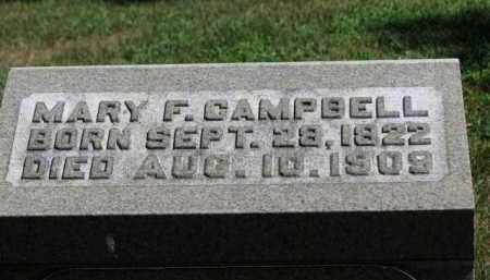 CAMPBELL, MARY F. - Erie County, Ohio | MARY F. CAMPBELL - Ohio Gravestone Photos
