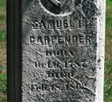 CARPENDER, SAMUEL B. - Erie County, Ohio | SAMUEL B. CARPENDER - Ohio Gravestone Photos