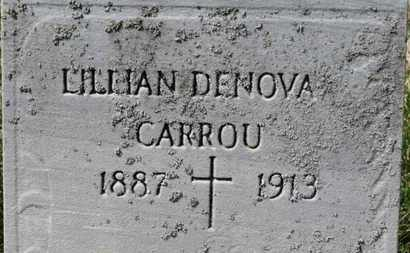 DENOVA CARROU, LILLIAN - Erie County, Ohio | LILLIAN DENOVA CARROU - Ohio Gravestone Photos