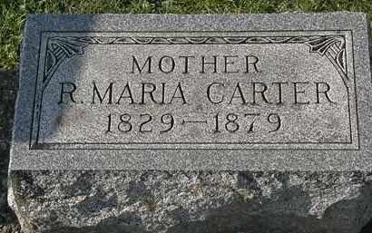 CARTER, R. MARIA - Erie County, Ohio | R. MARIA CARTER - Ohio Gravestone Photos