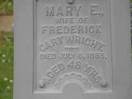 CARTWRIGHT, MARY E. - Erie County, Ohio | MARY E. CARTWRIGHT - Ohio Gravestone Photos