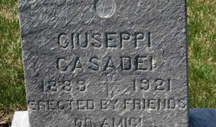 CASADEI, GIUSEPPI - Erie County, Ohio | GIUSEPPI CASADEI - Ohio Gravestone Photos