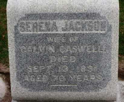 JACKSON CASWELL, SERENA - Erie County, Ohio | SERENA JACKSON CASWELL - Ohio Gravestone Photos