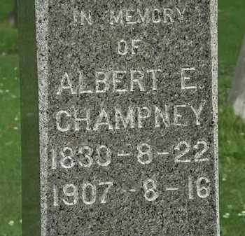 CHAMPNEY, ALBERT E. - Erie County, Ohio | ALBERT E. CHAMPNEY - Ohio Gravestone Photos