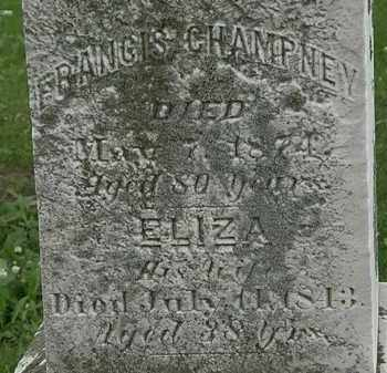 CHAMPNEY, ELIZA - Erie County, Ohio | ELIZA CHAMPNEY - Ohio Gravestone Photos