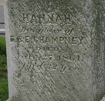CHAMPNEY, HANNAH - Erie County, Ohio | HANNAH CHAMPNEY - Ohio Gravestone Photos