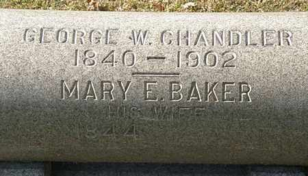 BAKER CHANDLER, MARY E. - Erie County, Ohio | MARY E. BAKER CHANDLER - Ohio Gravestone Photos