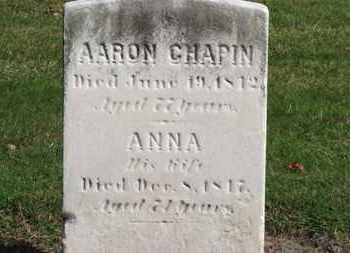 CHAPIN, AARON - Erie County, Ohio | AARON CHAPIN - Ohio Gravestone Photos