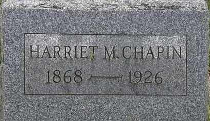 CHAPIN, HARRIET M. - Erie County, Ohio | HARRIET M. CHAPIN - Ohio Gravestone Photos
