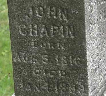 CHAPIN, JOHN - Erie County, Ohio | JOHN CHAPIN - Ohio Gravestone Photos
