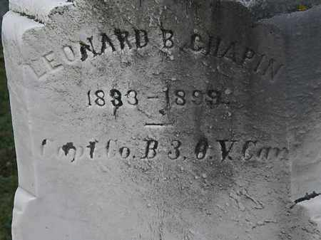 CHAPIN, LEONARD B. - Erie County, Ohio   LEONARD B. CHAPIN - Ohio Gravestone Photos