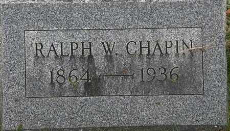 CHAPIN, RALPH W. - Erie County, Ohio | RALPH W. CHAPIN - Ohio Gravestone Photos