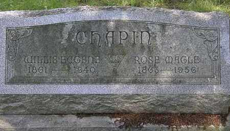 CHAPIN, WILLIS EUGENE - Erie County, Ohio | WILLIS EUGENE CHAPIN - Ohio Gravestone Photos