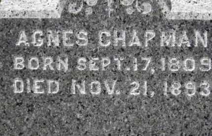 CHAPMAN, AGNES - Erie County, Ohio | AGNES CHAPMAN - Ohio Gravestone Photos
