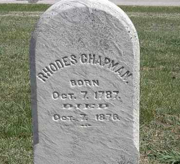 CHAPMAN, RHODES - Erie County, Ohio | RHODES CHAPMAN - Ohio Gravestone Photos