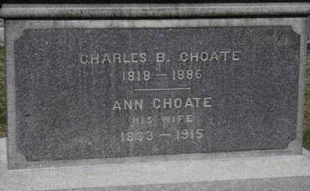 CHOATE, CHARLES B. - Erie County, Ohio | CHARLES B. CHOATE - Ohio Gravestone Photos
