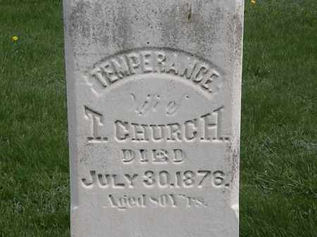 CHURCH, TEMPERANCE - Erie County, Ohio | TEMPERANCE CHURCH - Ohio Gravestone Photos
