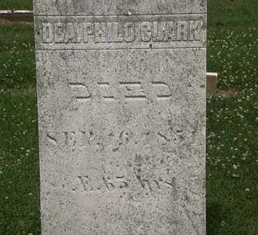 CLARK, DEA. PHILO - Erie County, Ohio | DEA. PHILO CLARK - Ohio Gravestone Photos