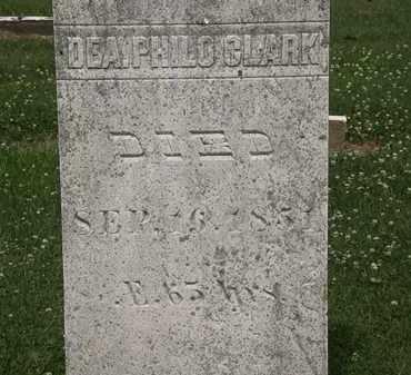 CLARK, DEA. PHILO - Erie County, Ohio | DEA. PHILO CLARK - Ohio Gravestone Photos