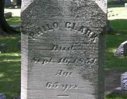 CLARK, PHILO - Erie County, Ohio | PHILO CLARK - Ohio Gravestone Photos