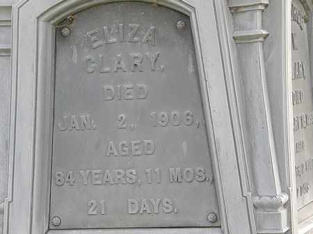 CLARY, ELIZA - Erie County, Ohio | ELIZA CLARY - Ohio Gravestone Photos