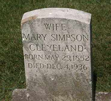 SIMPSON CLEVELAND, MARY - Erie County, Ohio | MARY SIMPSON CLEVELAND - Ohio Gravestone Photos