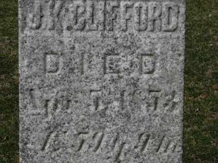 CLIFFORD, J. K. - Erie County, Ohio | J. K. CLIFFORD - Ohio Gravestone Photos