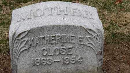 CLOSE, KATHERINE E. - Erie County, Ohio | KATHERINE E. CLOSE - Ohio Gravestone Photos