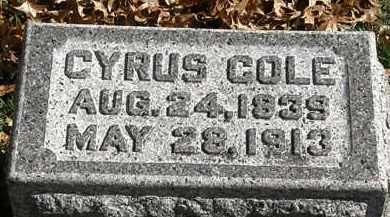 COLE, CYRUS - Erie County, Ohio | CYRUS COLE - Ohio Gravestone Photos